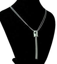 Collier Double couche pour femme, chaîne de pull, long et irrégulier, bijou de rue en argent sterling 925