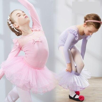 New Ballet Tutu Dancewear Girls Ballet Clothes Costumes Toddler Leotard + skirts Professional Tutus Ballerina skirts Kids