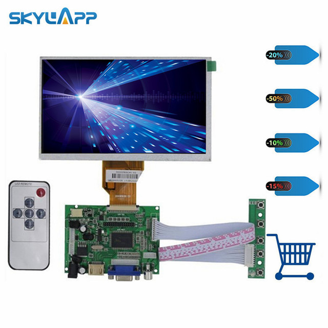 Skylarpu 7 inch for Raspberry Pi With HDMI VGA AV LCD Screen Display Monitor For Pcduino Banana Pi (without touch) Free shipping
