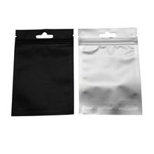 8.5*13cm Black Reclosable Ziplock Clear Plastic Packing Pouch Self Seal Storage Bags 100Pcs/Lot Aluminum Foil Zipper Top Bag цены