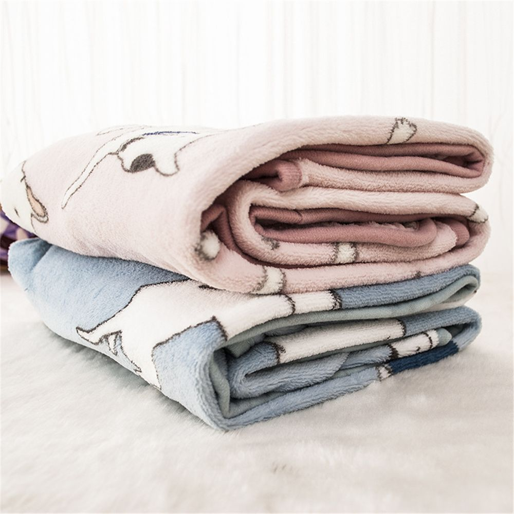 100x75cm Soft Flannel Bull Terrier Blanket for Pet Bed Mat office Nap Baby Towel NEW