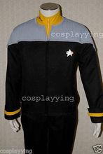 Star Trek Nemesis Engineering Men Jacket Shirt For Men Movie Uniform Halloween Cosplay Costume Custom Made