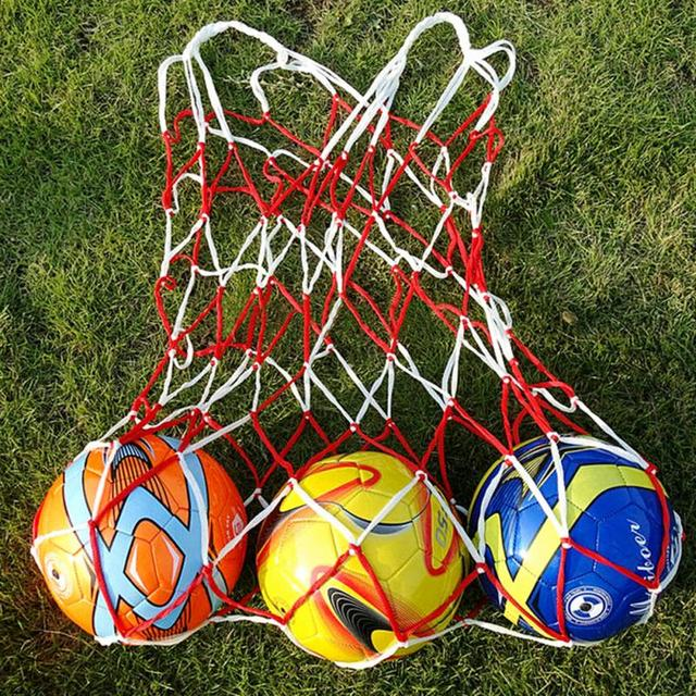 Handmade Outdoor Sporting Basketball Soccer Storage Carry Net Bag Sports  Equipment Football Volleyball Balls Draw Cord