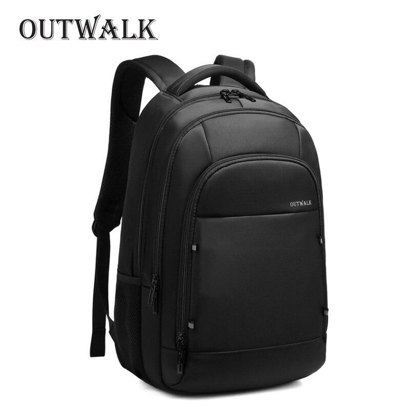 OUTWALK Backpacks Men Women School Backpack For Teenage Girls Female Mochila 15