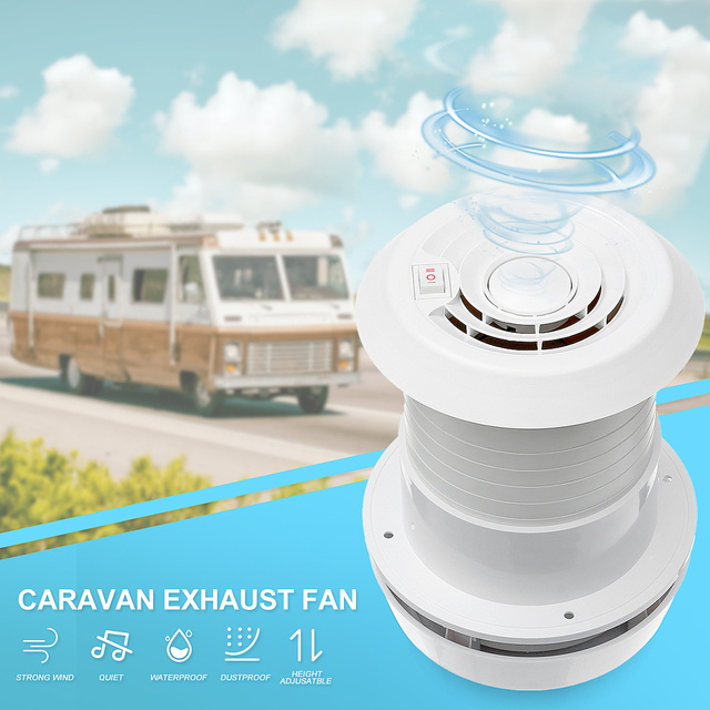 US $41 58 45% OFF|WARMTOO 1Pcs 12V RV Energy saving Motorhome Roof Vent  Ventilation Cooling Exhaust Fan Noiseless For Travel Motor Homes Trailer-in