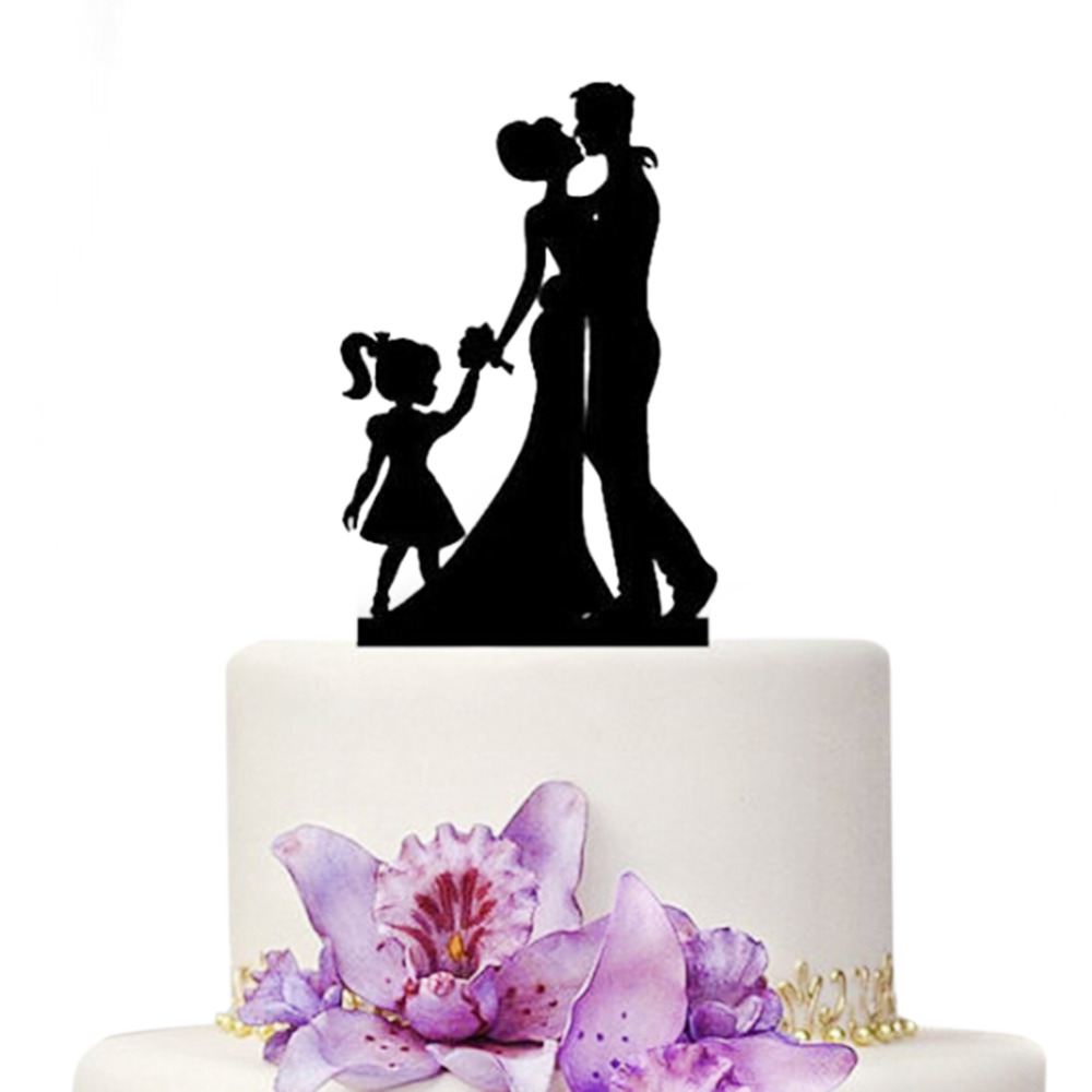 wedding cake toppers including child ledifly diy details about family groom child 26503