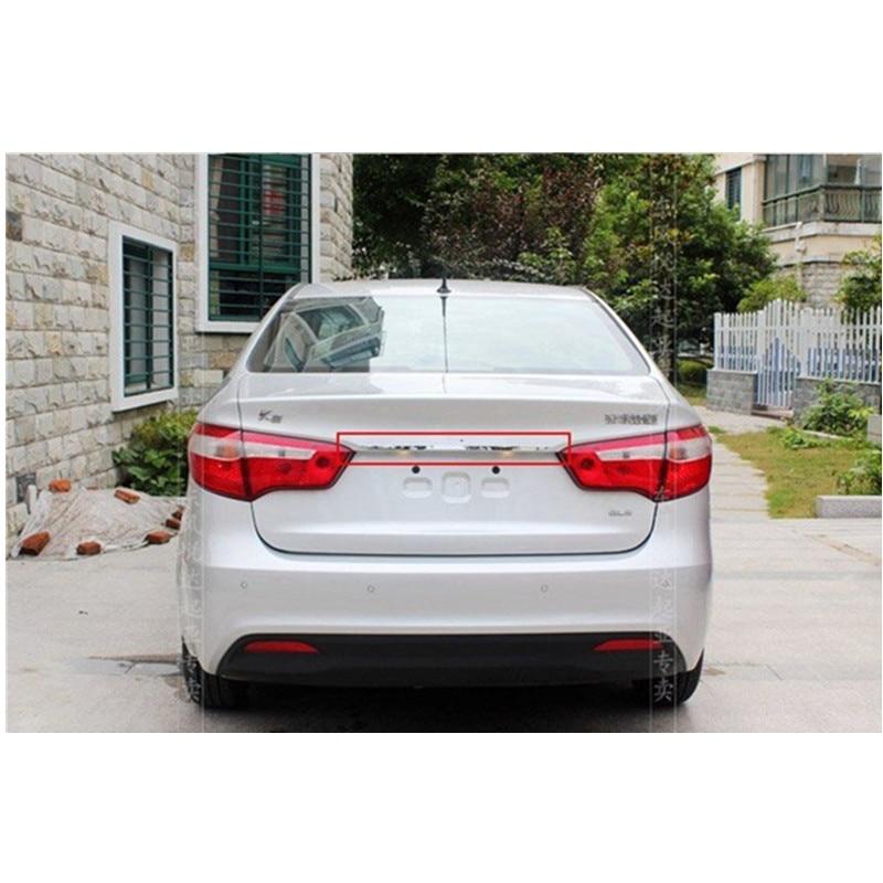 ABS Chrome Belakang Trunk Lid Cover Trim Untuk 2011-2012 KIA Rio / K2 - Suku cadang mobil - Foto 2