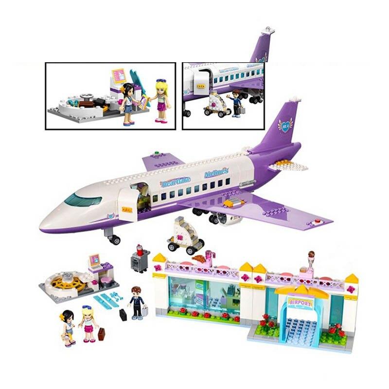 79175 701 pcs Amis Heartlake L'aéroport Grand Avion Avion Fille Lele Building Block Compatible 41109 Brique Jouet Legoe