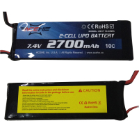1 Pc Black 7 4V 2700MAH 10C Battery With EC2 Plug For Hubsan H501S
