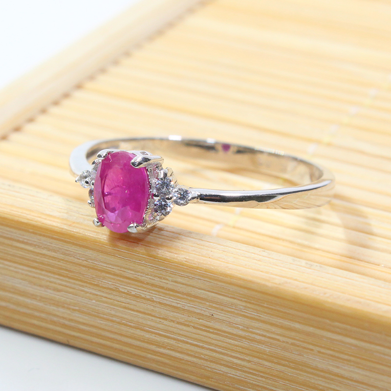 Image 3 - Real 925 silver gemstone ring for engagement  0.5 ct natural ruby  silver ring solid silver ruby ring romantic gift for girlgemstone  rings silvergift for girlfriendgift gifts