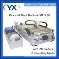 Машина для сборки печатных плат SMT280 SMT Chip Mounter для светодиодных ламп 0402 0603  BGA с 28 Кормушками + 2 головки + насадка JUKI