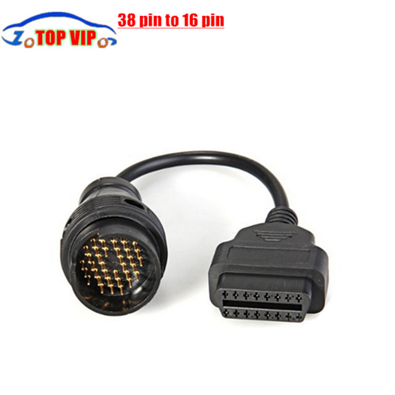 Universal 38 Pin to 16 Pin OBD OBD2 OBDII Diagnostic Adapter Connector Cable for B---E--- N-- Z