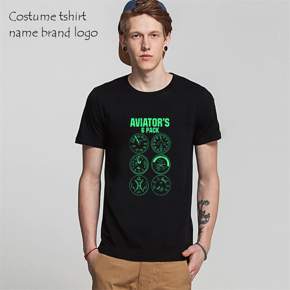 25b9b77f Mens T Shirts Aviator Six Pack Pilot Travel Humor Vacation Flight Cool T  Shirts Male Short Sleeve TShirt Camisetas suprem-in T-Shirts from Men's  Clothing on ...