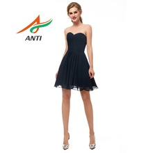 ANTI Elegant Chiffon Sleeveless A-Line Formal Gown Knee-Length short Prom Dresses
