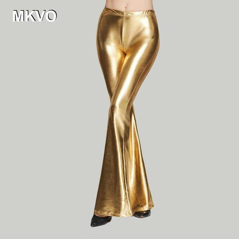 Pantolon Kadın Moda Pantolon Düz renk Pullu Tayt Çan dipleri Pantolon Yüksek Belli Kargo Pantolon Kadın pantalon femme