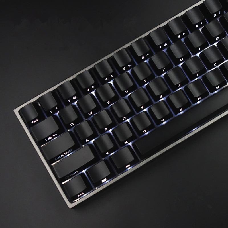 Keycaps Set Front/Side Print Backlit Cherry MX Keycaps With Keycap Puller For Tenkeyless 87/104 Mechanical Gaming Keyboard Black цены онлайн