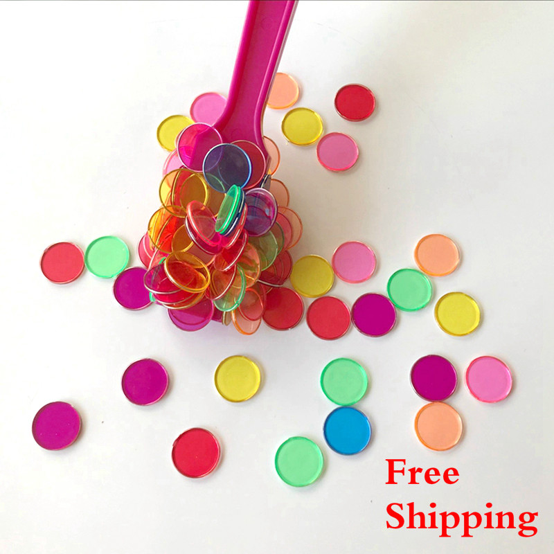 1LOT 100pcs/bag Enlightenment Toy  Round Sheets Magnetic Bar Baby Early Education Children'S  Teaching Montessori Toys