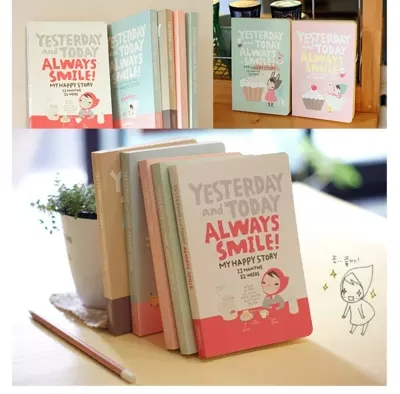 Cute Notebook Red hat girl Agenda week plan Diary Day planner journal record stationery office School supplies free shipping kicute retro cute cartoon diy notebook leather bound travel journal diary planner agenda gifts office school supplies