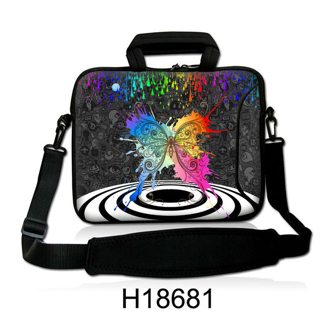 b4139b39b96c Colorful Butterfly Shape Neoprene Handle Laptop Shoulder Bag Cover  10