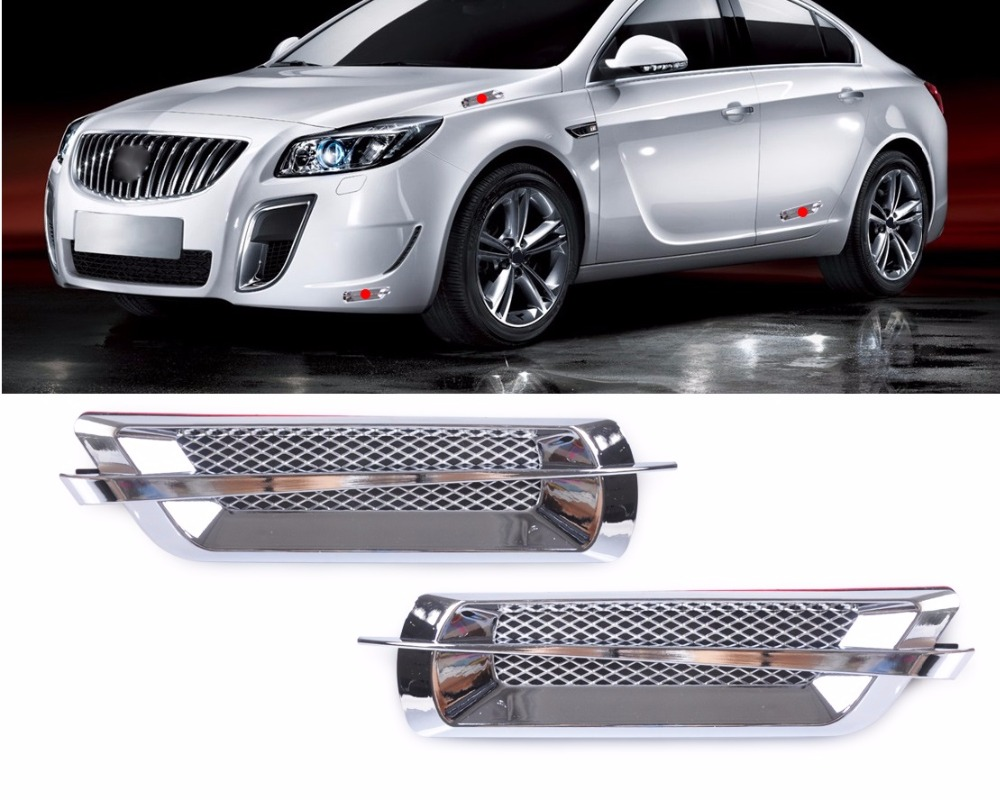 CITALL 2Pcs Chrome Car Side Air Vent Fender Cover Hole Intake Duct Flow Grille Decoration Sticker 2017 chromed abs plastic car side air vent fender cover sticker for toyota camry solara celica celsior century corolla fielder