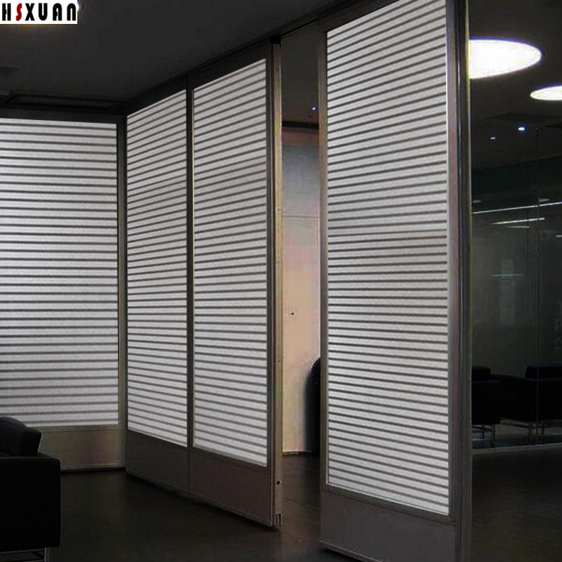 Stripe Decoration Glass Window Film, 50x100cm Pvc Frosted Removable Sticker Office  Partitions On Window Film
