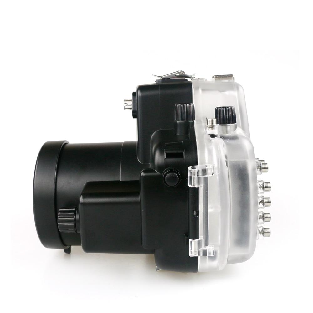 Para nikon d7000 18-55mm caso profissional mergulho