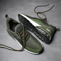 New Arrival Air Cushion Men Sneakers High Tech Damping Flyknit Breathable Men Casual Shoes Women Fashion Zapatillas de Hombre