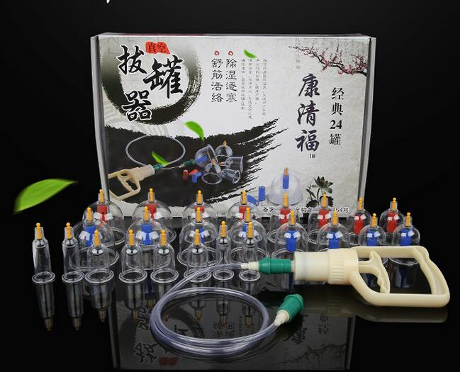 24 Pcs Massage Cans Massager Health Monitors Chinese Cupping Therapy Cans Opener Pull Vacuum Cupping Massage  Banks Tank Set 1 set 6 can massager health monitors products can opener pull vacuum cupping of the tanks cutem extractor acupuncture hot sale