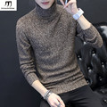 Korean Slim Fit Turtleneck mens sweaters stylish Solid Color Knitted Pullovers Sweater Men  2016 New Autumn Winter Pull Homme