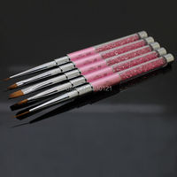 Free Shipping A Level Quality 5pcs/Set Crystal Nail Brush Nail Art Pen to Draw Nail Pattern on Nail