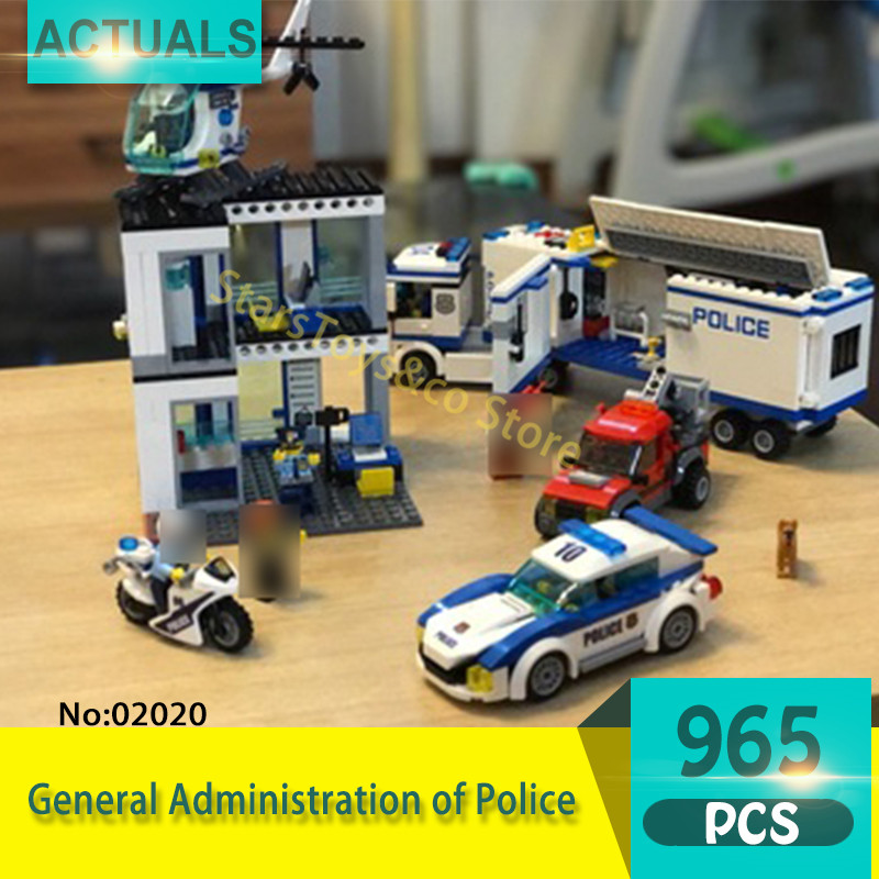 купить Lepin 02020 965Pcs City series General Administration of Police Model Building Blocks Set  Bricks Toys For Children Gift 60141 недорого