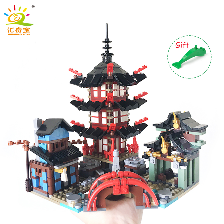 737PCS Ninjaos Temple of Ninjagoes Blocks Set Toy Compatible Legoed Figure Movie Building Brick Toys For Children Christmas Gift compatible with lego ninjagoes 70596 06039 blocks ninjago figure samurai x cave chaos toys for children building blocks
