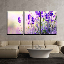 Lavender Field Diamond Painting 3pcs Full Round Embroidery Beaded Cross Stitch Handmade Needlework Wall