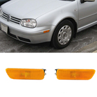 RH & LH Yellow Grey Front Bumper Reflector Side Marker Lights For 1999-2004 VW MK4 Golf/Jetta
