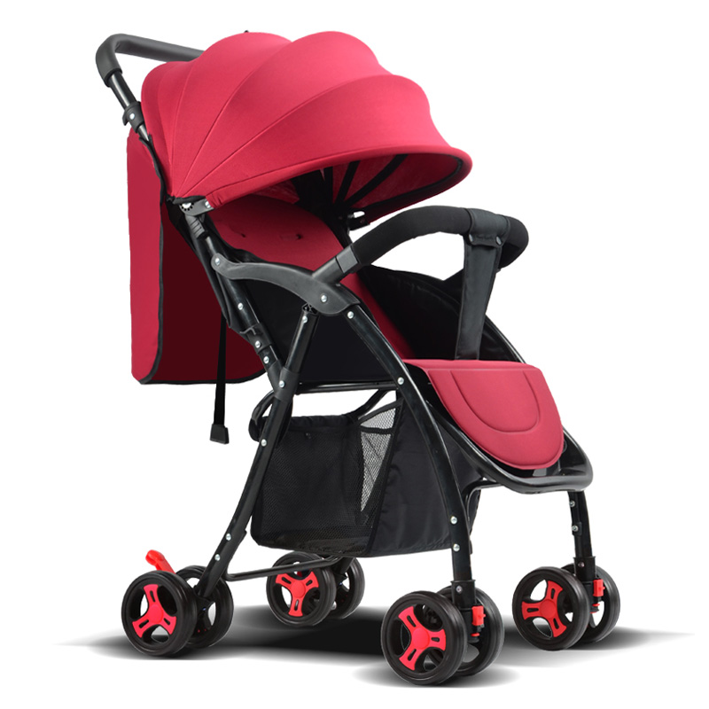 baby strollers ultra-lightweight stroller folding strollers can sit can liehigh landscape umbrella baby trolley lightweight strollers aiqi ultra light white frame good quality baby stroller baby umbrellacar boarding stroller accessories