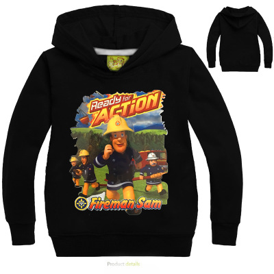 Kids Fireman Sam Hoodies Cartoon Children's Sweatshirts For Boy Outwear Coat Kids Clothes Cartoon Boys Girls Tops Costume