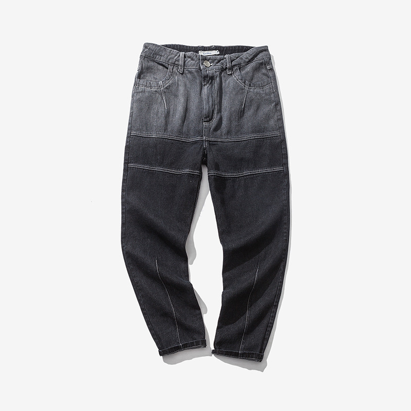 2017 Top Zipper Fly Cotton Slim Low Midweight font b Men s b font Casual font