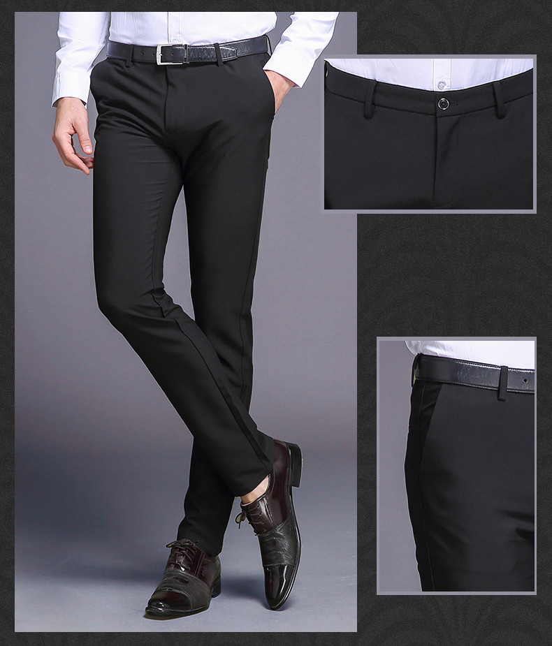 HTB1wmlohJzJ8KJjSspkq6zF7VXaI Fashion New High Quality Cotton Men Pants Straight Spring and Summer Long Male Classic Business Casual Trousers Full Length Mid