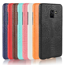 For Samsung Galaxy A8 2018 Case Luxury Crocodile Skin Hard Cover for