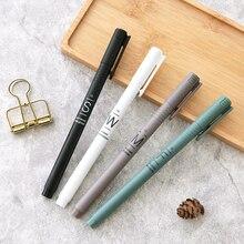 Купить «Мягкий бриз» 4 шт. Красивая гелевая ручка Набор для рисования пишущих ручек 0,35 мм черные чернила студент канцелярские подарок бизнес офиса