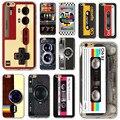 Suave silicone back case para iphone 4 4s 5 5s se 5c 6 6 s 6 mais 6 s plus ultra fino do vintage art phone case fita cassete camera pintura