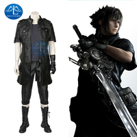 MANLUYUNXIAO Noctis Lucis Caelum Cosplay Halloween Costume For Men Adult Anime Game Final Fantasy XV Prince Otfit Black Suits