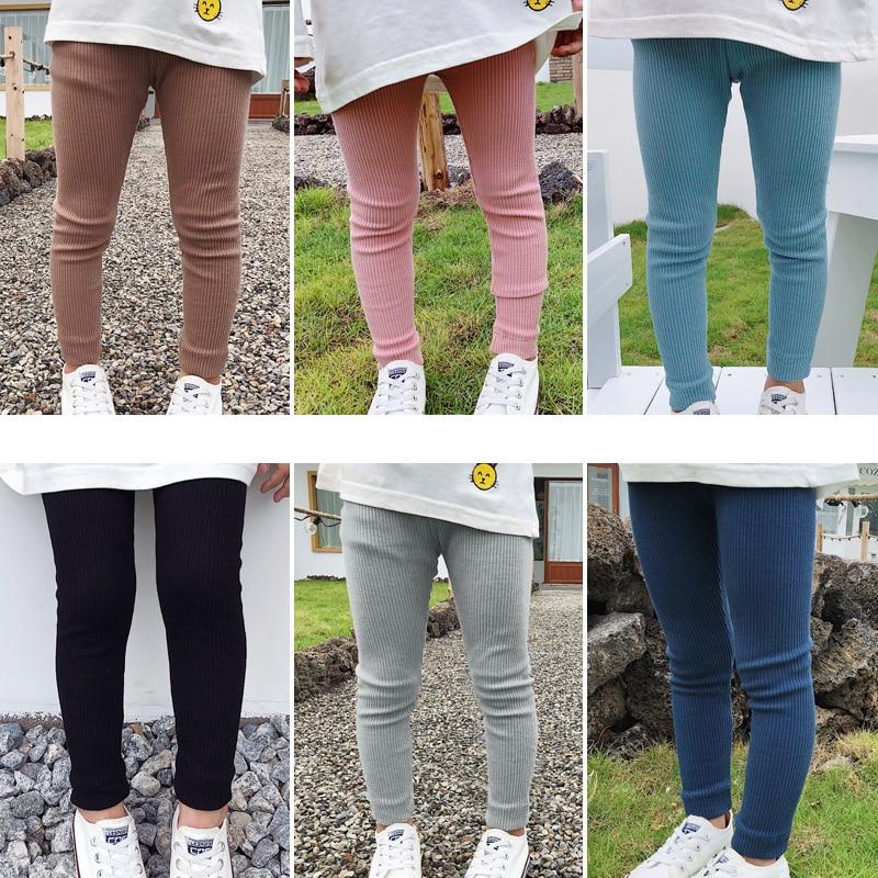 High Waist Skinny Kids Clothing Girls Leggings Pants Trousers