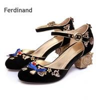 Women Big Size 4 10 5 Wedding Shoes Ladies High Heel Sandals Red Black Blue Metal