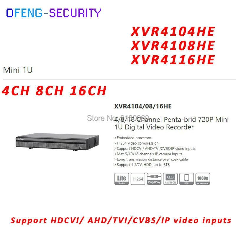 ahd dahua, XVR Dahua video recorder XVR4104HE XVR4108HE XVR4116HE 4ch 8ch 16ch 1080P Support HDCVI/ AHD/TVI/CVBS/IP Camera dahua xvr video recorder xvr5408l xvr5416l xvr5432l 8ch 16ch 32ch 1080p support hdcvi ahd tvi cvbs ip video inputs