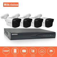 Hikvision 4CH NVR KIT 1080P CCTV System Record 2MP PoE IP Camera P2P Waterproof Outdoor IR Night Vision Video Surveillance KIT