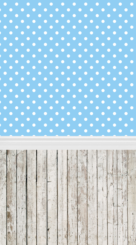 Huayi Blue White Dots Photo Background Art Fabric