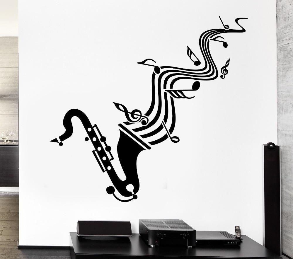 online get cheap blues vinyl aliexpress com alibaba group wall sticker vinyl decal saxophone sheet music jazz blues lover china