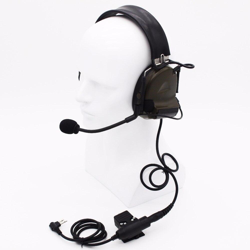 imágenes para Xqf caza juego auricular h50 z tactical u94 ptt auricular para motorola gp88 gp68 gp300 gp2000 p080 pro1150 radio de dos vías cp040
