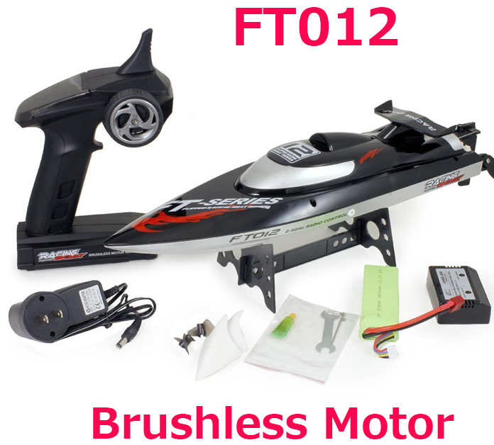 (გაყიდვაში) 100% ორიგინალი Feilun FT012 Brushless Motor 4CH RC Boat Water Cooling High Speed ​​Racing RC Boat 45KM / H RTF 2.4GHz
